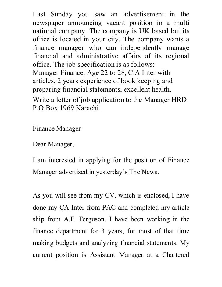 Formal Cover Letters Job Application