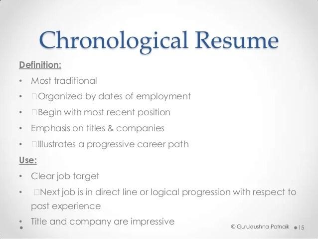 resume academic definition
