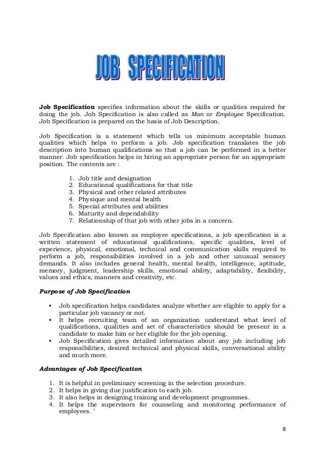 Job description how to write