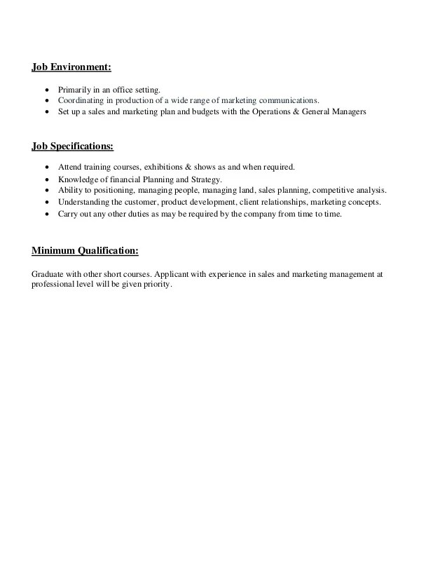 Job Description Example Production Manager – Production Director Job Description