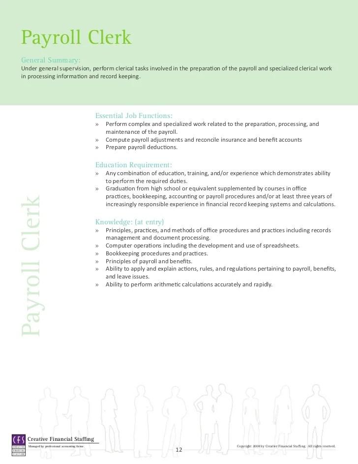 payroll accounting job description - Ozilalmanoof