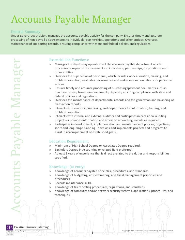 Job Description For Accounting Clerk rockcuptk – Accounts Payable Job Description