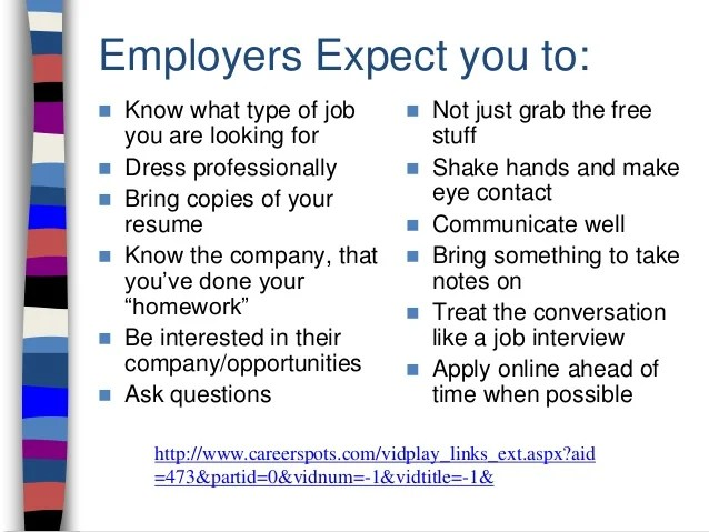 what do you take to a job fair - Selol-ink