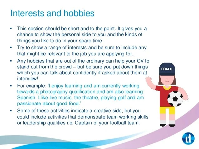 Cv Hobbies And Interests Cv Plaza Job Hunting Tips And Hints From Learndirect