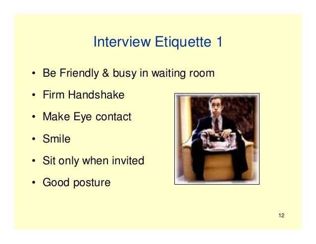 job interview etiquette - Kubreeuforic