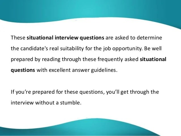 interview situational questions and answers roho4senses