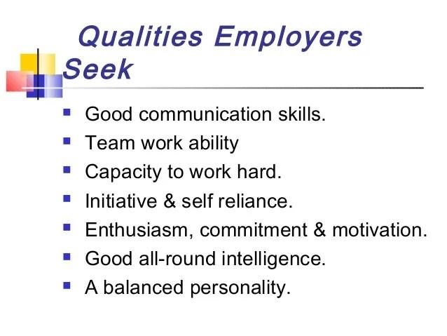 qualities to put on resume