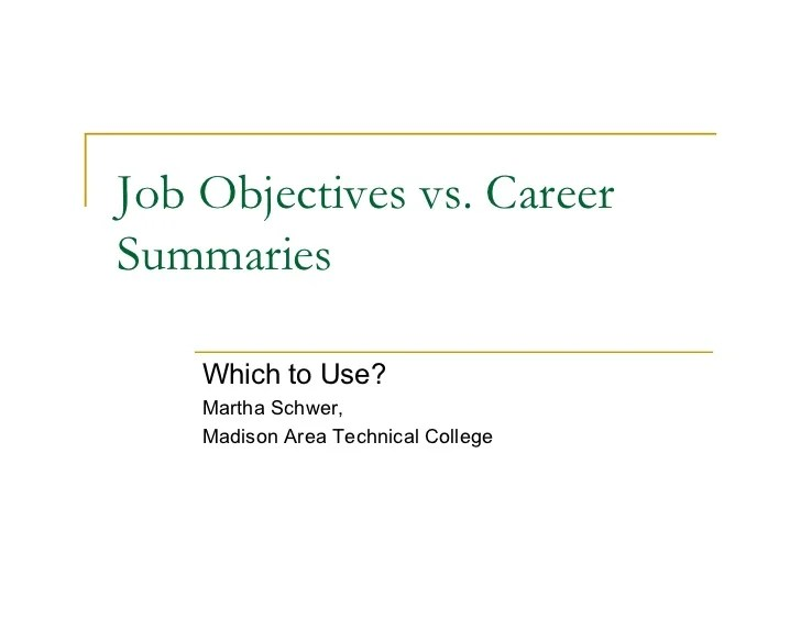 job objectives - Pinarkubkireklamowe