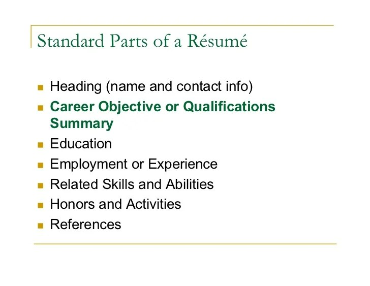 Resume Objective Statement Yes Or No  Create Professional Resumes