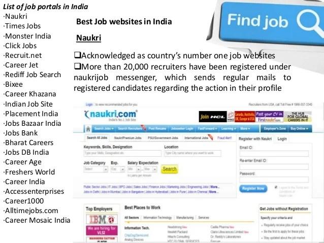 free resume database recruiters india