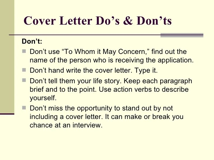 how to write a cover letter when you don t know the recipient