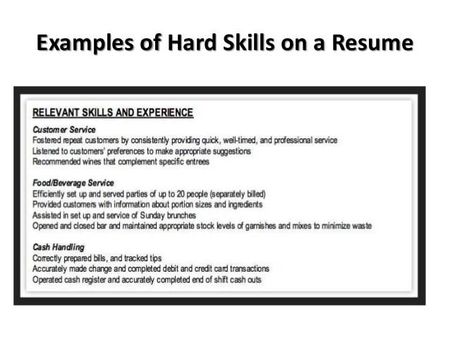 hard skills resume - Elitaaisushi