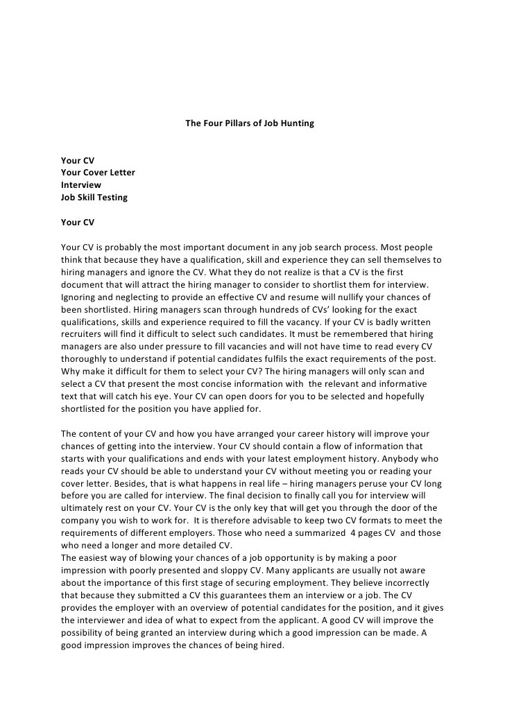 job hunting cover letter - Goalgoodwinmetals