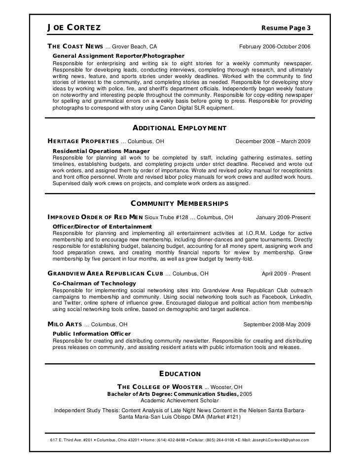 news reporter resume - Minimfagency