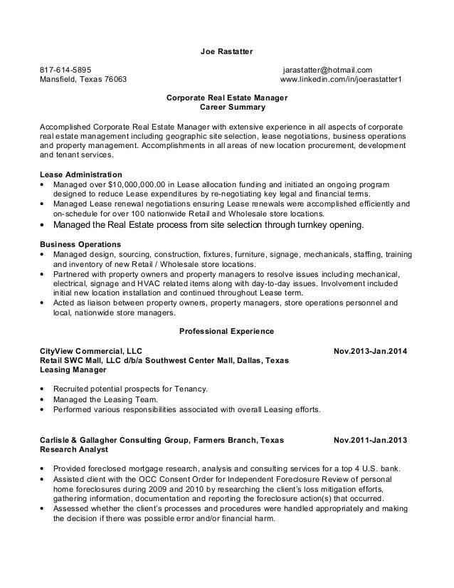 real estate executive resume - Onwebioinnovate