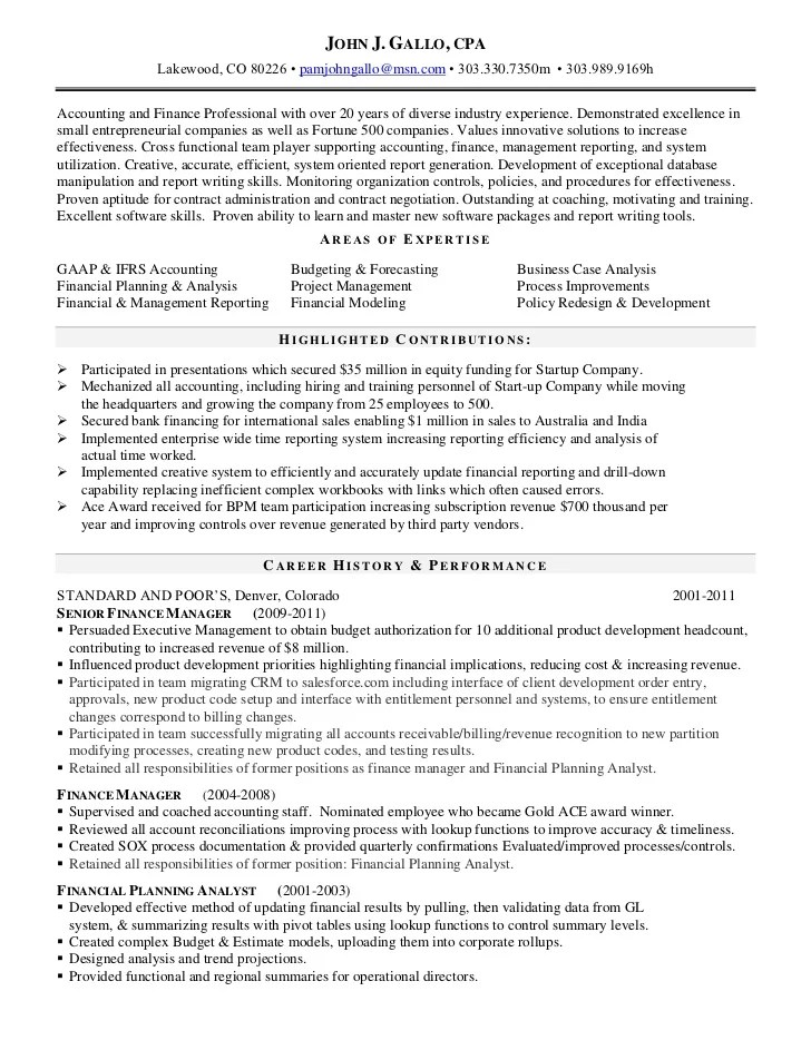 100 sle resume for staff accountant best