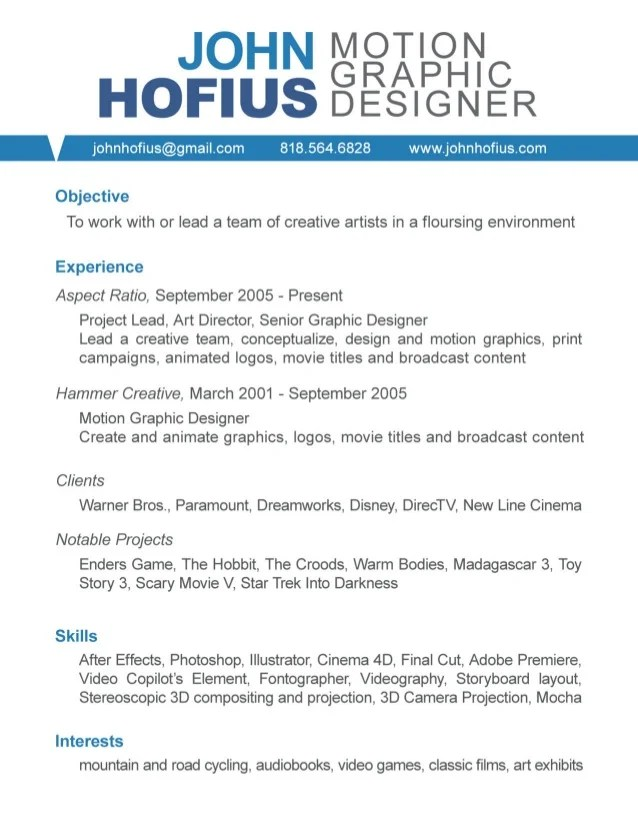 cv game designer motion design