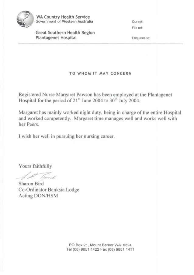 registered nurse recommendation letter - Tikirreitschule-pegasus