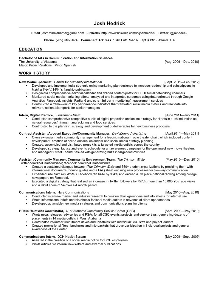 Contemporary Therapeutic Recreation Specialist Resume Inspiration