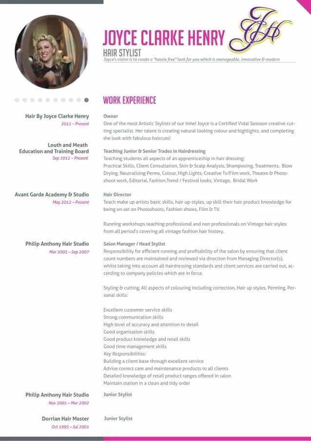 resume examples hairdresser - Resume Samples For Hair Stylist