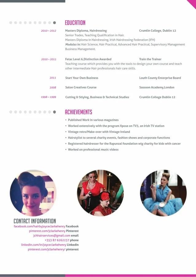 modern hair dresser resume - Alannoscrapleftbehind