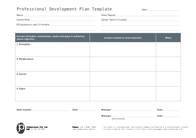 professional development plan example business - Onwebioinnovate - business development plan template