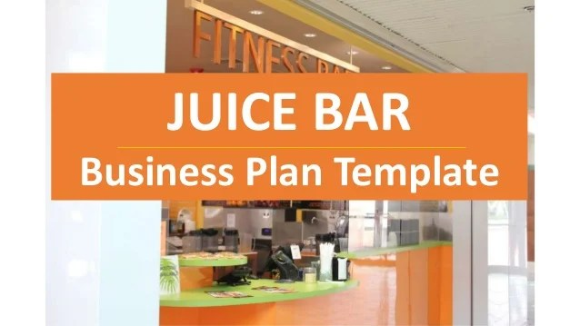 Cold pressed juice business plan