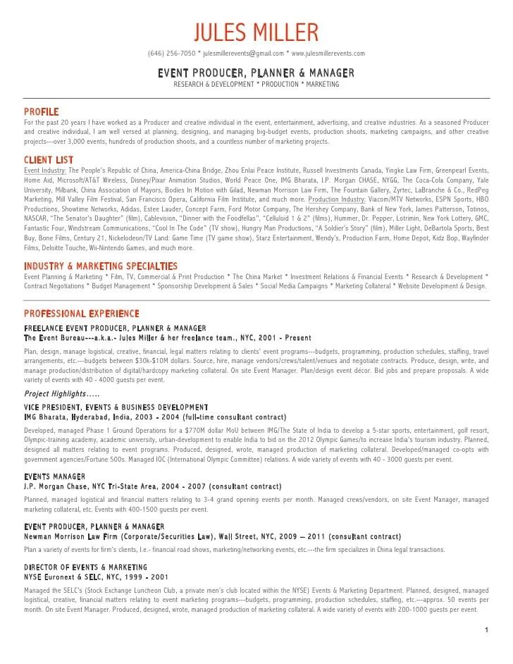 event marketing manager resume sample