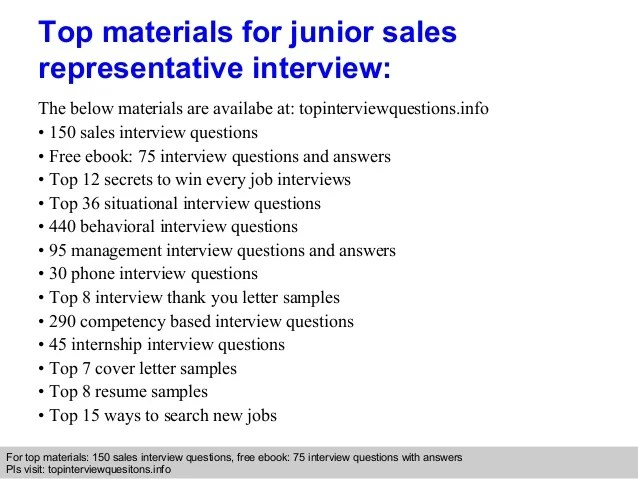 sales rep interview questions - Josemulinohouse