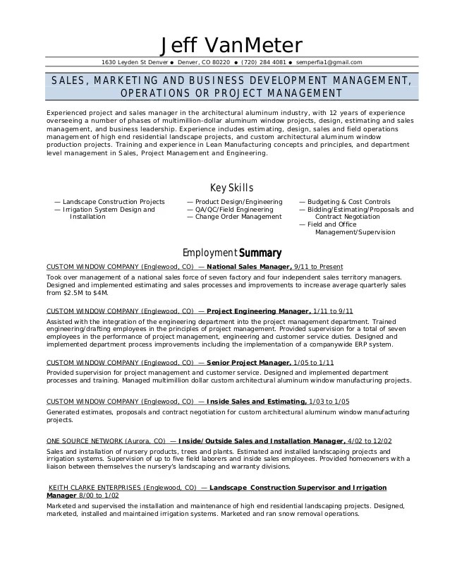 landscaping skills for resumes