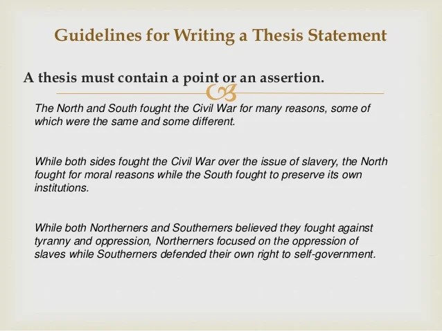 Guidelines For Thesis Writing