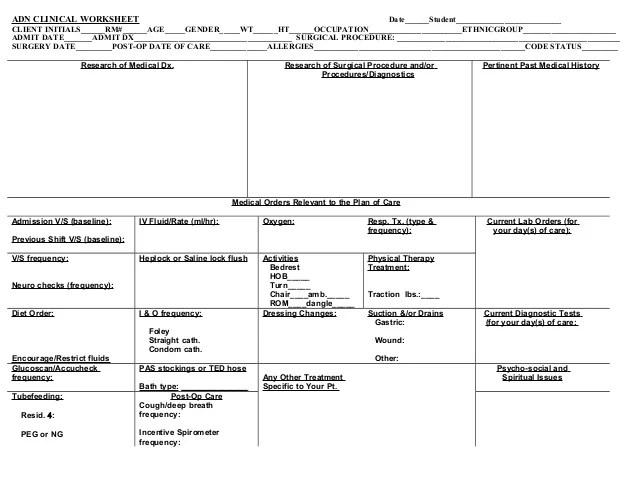 Nurse Assignment Sheet, Essays Free - Nurse Assignment Sheet