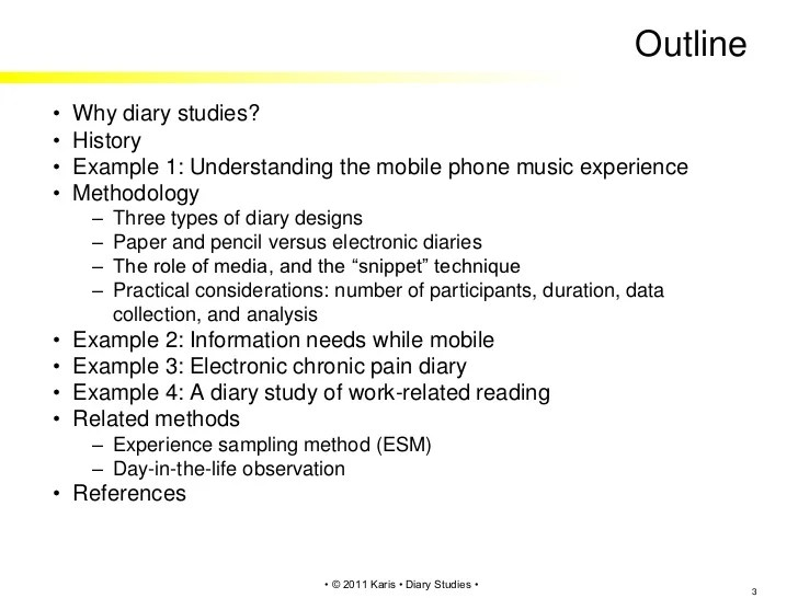 The Advantages And Limitations Of Single Case Study Analysis Diary Studies In Hci And Psychology