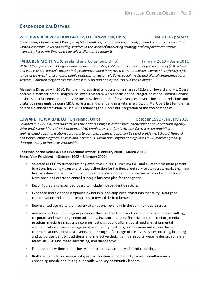 corporate communications cv