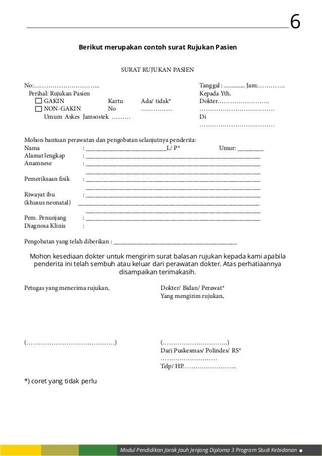 form resume klinis