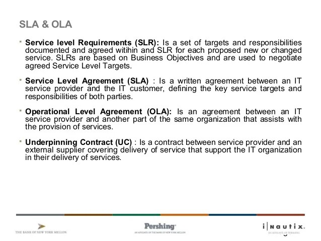 Ola Operational Level Agreement Template Gallery - Agreement Letter ...