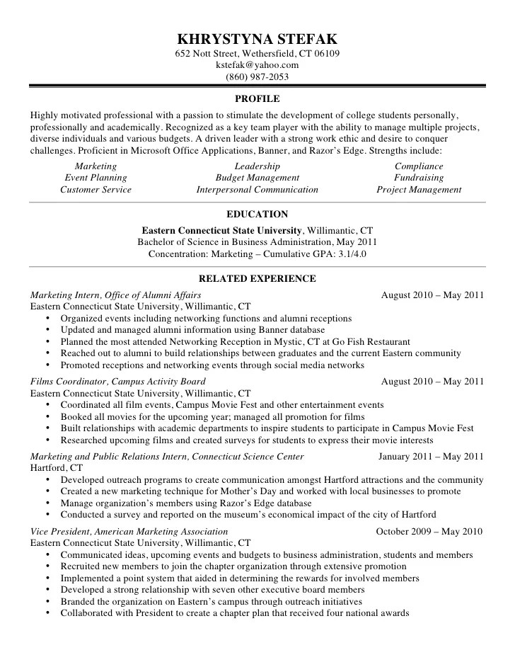 outreach coordinator resume