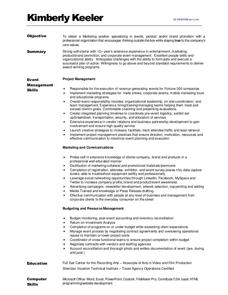 Accounts Manager Resume Model 3 Engineering Project Manager Resume Samples Examples Kimberlykeeler Marketing Resume 2012