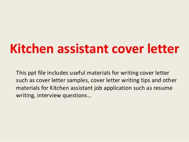 Cover Letter Writing Guide With Examples The Balance Kitchen Assistant Cover Letter
