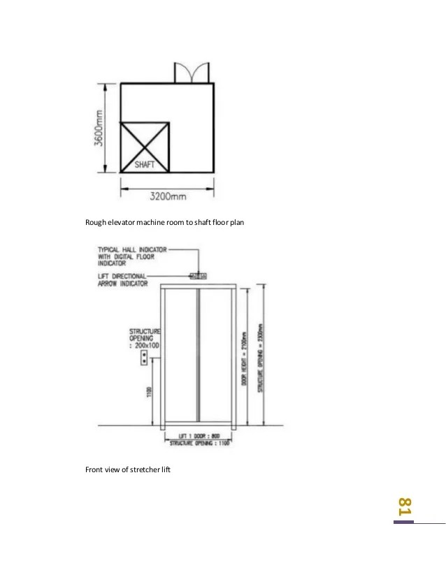 schematic view of geared traction elevator system an elevator