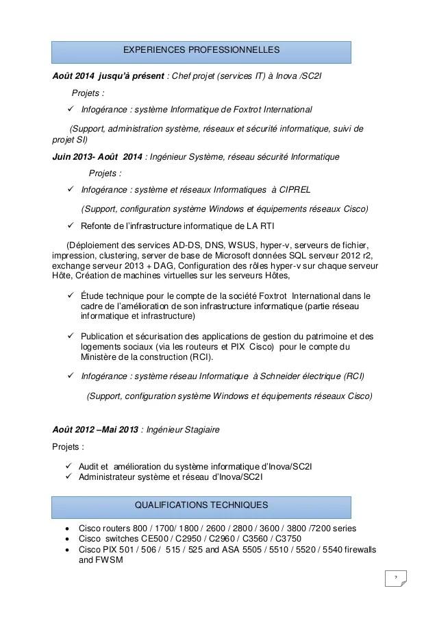 certification securite informatique cv