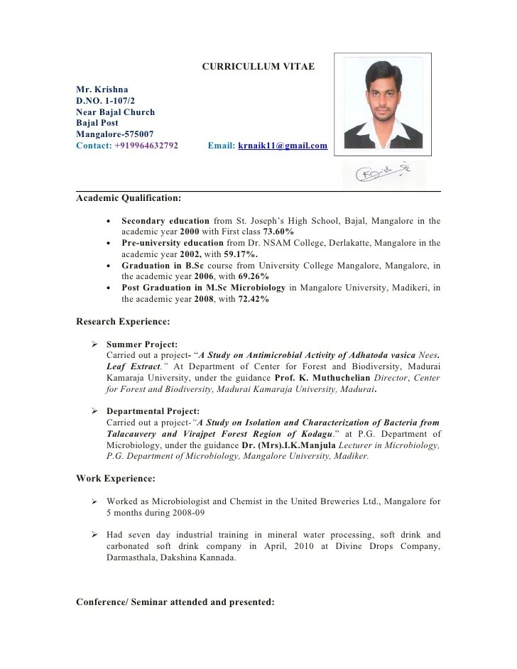 Resume In English Doc Rsum Wikipedia Krishna Cv1