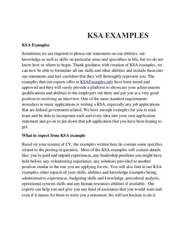 Resume Ksa Examples | Sample Customer Service Resume