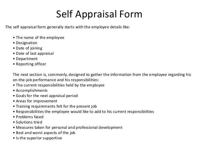 employee self evaluation form answers - Honghankk