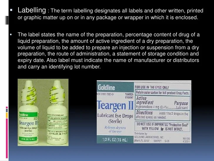 Labelling And Packaging Ppt