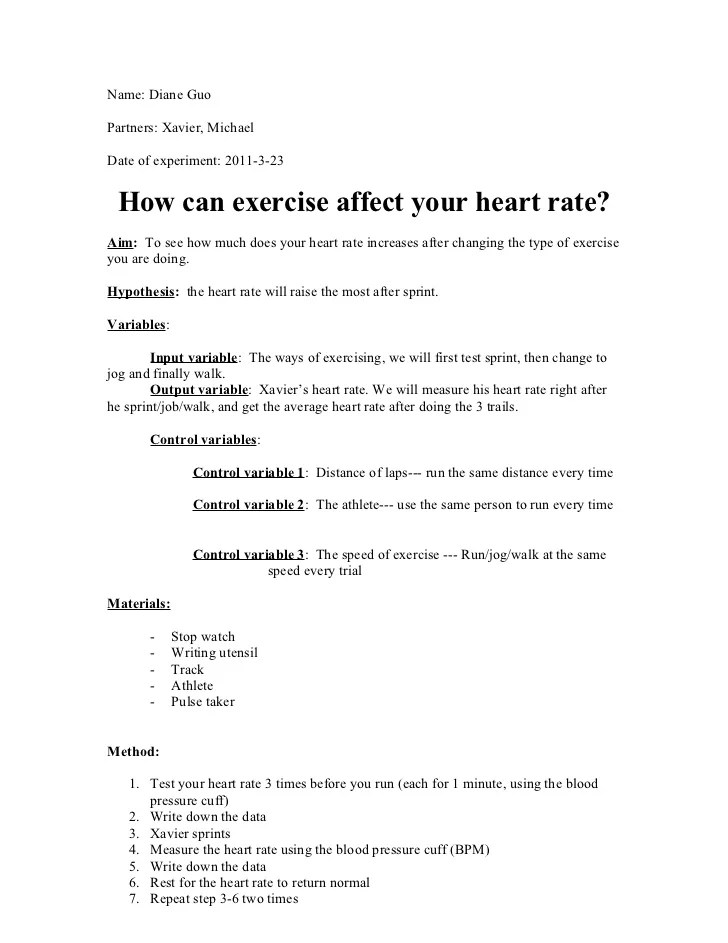 Exercise Physiology research essays samples