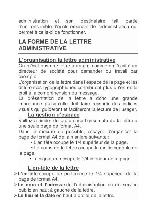exemple lettre administrative ou tableau exemple de lettre