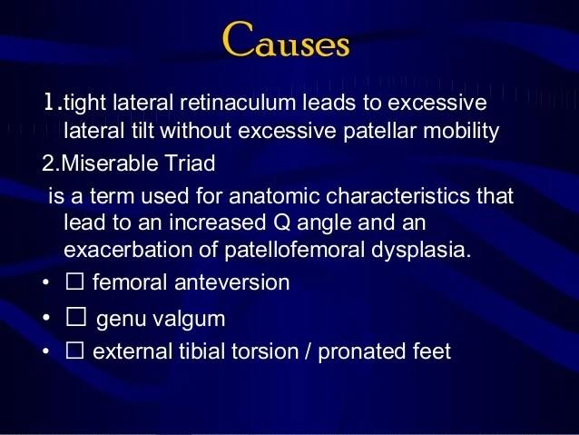Lateral Patellar Compression Syndrome