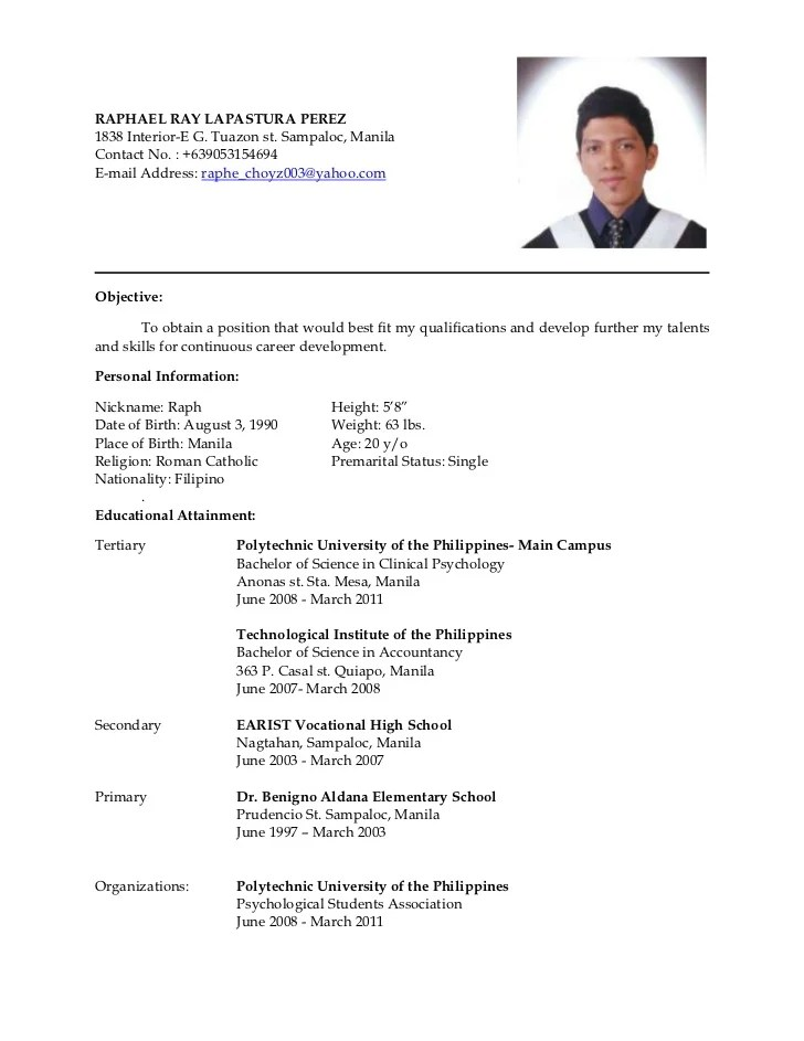 Sample Resumes For Graduate Students And Postdocs Latest Resume