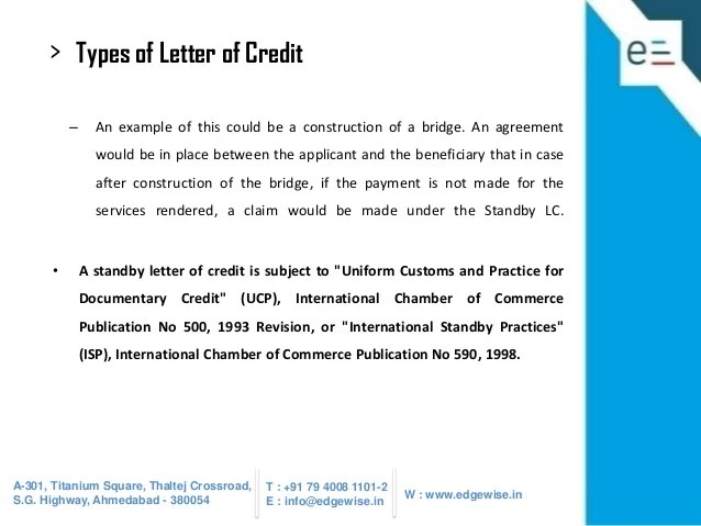 Irrevocable Transferable Letter Of Credit Example Sample
